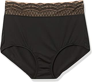 Warner's Women's No Pinching No Problem Microfiber with Lace Brief Panty