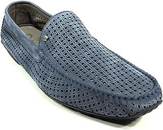 🇮🇹 Men's Blue Suede Summer Flats Loafers