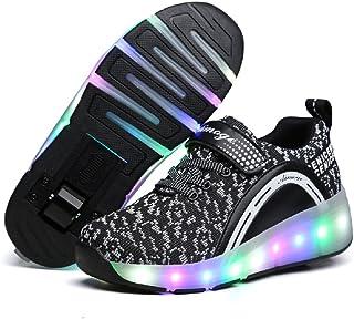 Aikuass Roller Shoes for Girls Boys Kids LED Blinking Skate Sneaker Shoes with Wheels
