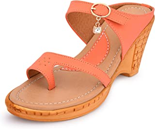 Forlido Women's Mary Jane Low Mid Heel Court Sandal Shoes for Ladies