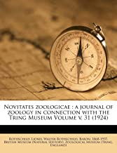 Novitates zoologicae: a journal of zoology in connection with the Tring Museum Volume v. 31 (1924)
