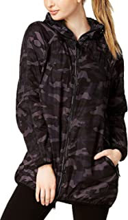 Calvin Klein Performance Women's Camo-Print Packable Hooded Jacket; (Small)
