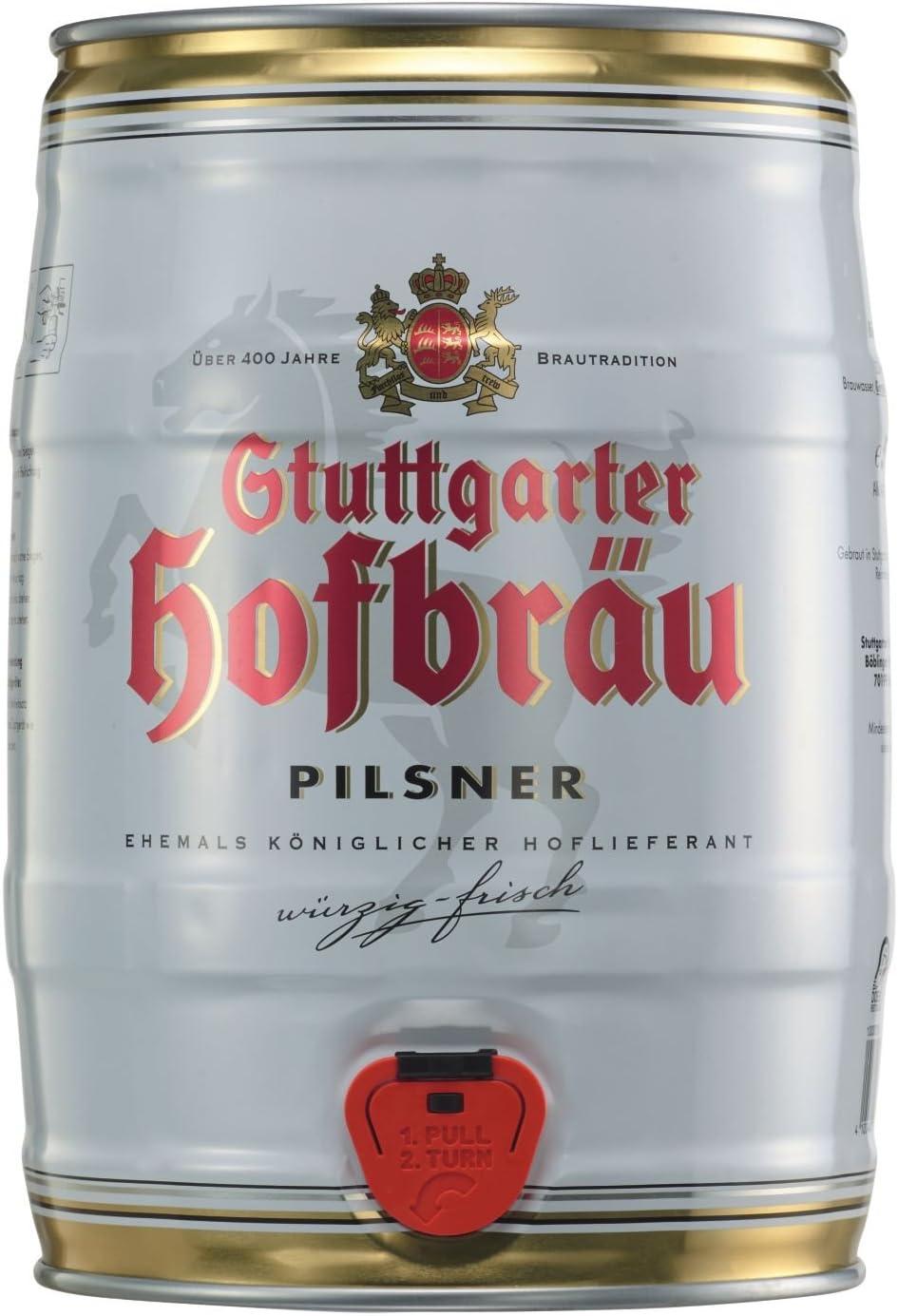 4 x Barril de fiesta Stuttgart Hofbraeu Pilsner 5 L 4.9% vol.