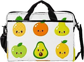 engshizilvbaihuo Unisex Laptop-Tasche, leicht, Segeltuch, Reisetasche, 33,4�,7 cm mit Schnallen, Orange / Zitronengelb / Birne