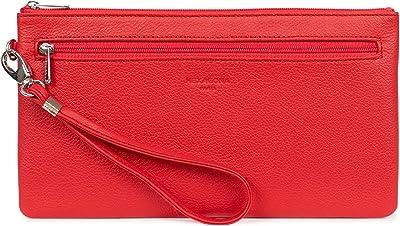 Hexagona – Tasche aus Rindsleder Komfort, erdbeere, L : 24 x h : 13 x P : 1,5 cm