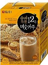 DAMTUH Korean Roasted 12 Super Grains Mixed Powder with Oats, Chickpeas, Quinoa, Lentils, (Misugaru), 20g x 40 Sticks