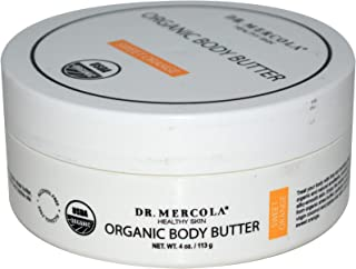 Dr. Mercola, Organic Revitalizing Body Butter Sweet Orange, 4 oz (113 g), Coconut Oil, Shea Butter, non GMO, Soy-Free, Gluten Free, Cruelty Free, USDA Organic