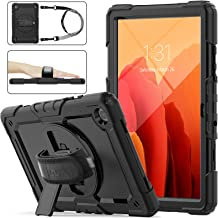 SEYMAC Stock Samsung Galaxy Tab A7 10.4'' Case 2020, Three Layer Armor Drop Protection Case with [360 Rotating Stand] Hand...