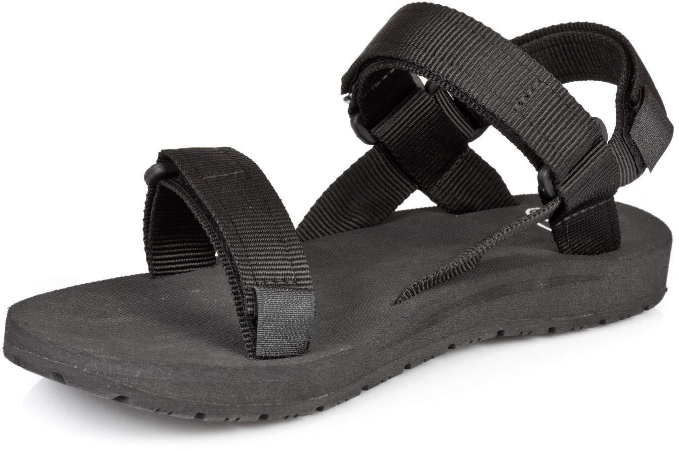Source Herren Sandale Classic, Black, 38, 1010110038