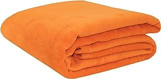 Zollner wollen deken, 150 x 200 cm, 60% katoen, oranje
