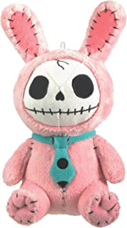 SUMMIT COLLECTION Furrybones Pink Bunny Bun Bun Wearing Polka Dotted Blue Tie Small Plush Doll