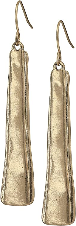 The Sak - Layered Paddle Drop Earrings