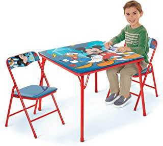 Mickey Mouse Activity Table Sets – Folding Childrens Table & Chair Set – Includes 2 Kid Chairs with Non Skid Rubber Feet &...