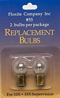 Floxite No.55 Replacement Bulbs for 10X + 15X Supervision, 0.1 Pound