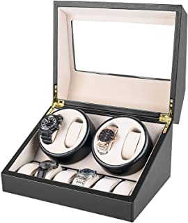 SZLJF - Enrollador de Reloj Universal Profesional 4 + 6 para Relojes Auatic, Motor Extremadamente silencioso, Suave y Flexible, Almohadillas para Relojes, adecuadas para muñecas de Hombres y Mujeres