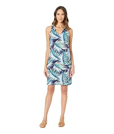 Tommy Bahama Leinani Leaves Sleeveless Dress (Island Navy) Women