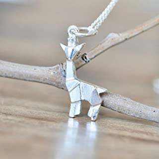 giraffe necklace silver