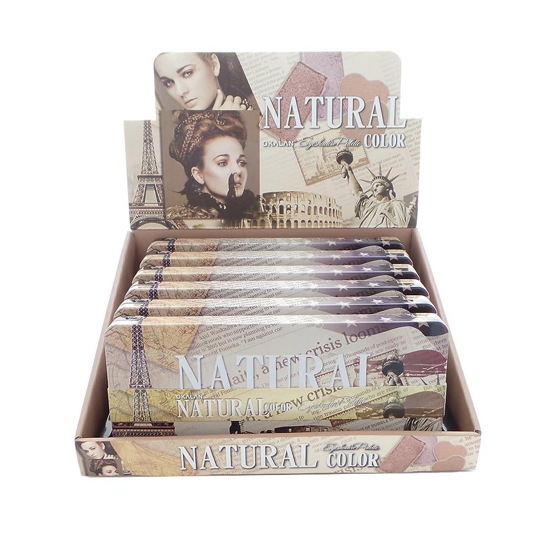 ガウン画家靴OKALAN Natural Color Eyeshadow Palette A Display Set, 6 Pieces (並行輸入品)