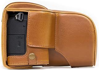 MegaGear Estuche Ever Ready Funda de Cuero de Pronto Uso con Correa Compatible con Panasonic Lumix G80 G81 (12-60mm)