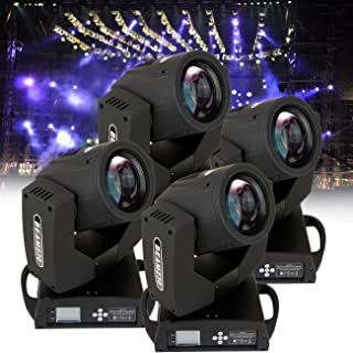 Ridgeyard 4 PCS RBG Moving Head Light Stage Party Disco Club Spot Lighting (4 X 230w)
