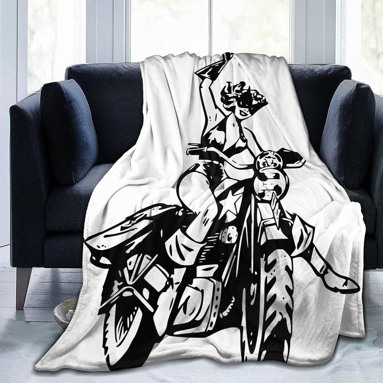Otogodine Black Girl Max 61% OFF Bedding Flannel Lightw Fleece Shipping included Throw Blanket