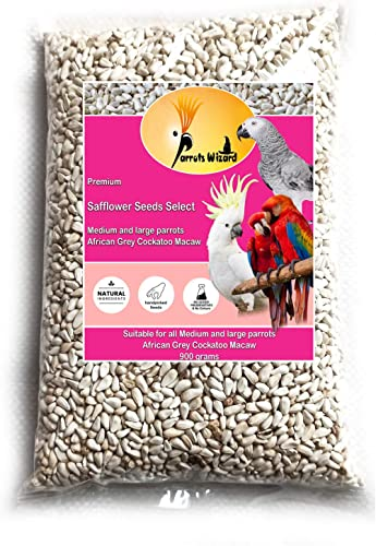Parrots Wizard Safflower Seeds, Kardi, Kusum beej for Wild Birds 900 Grams