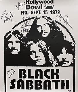 Black Sabbath 4 Ozzy Osbourne Autographed Signed 18X20.75 1972 Concert Poster Psa #Ab03324