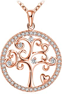 J.Rosée Tree of Life Pendant with 925 Sterling Silver 18