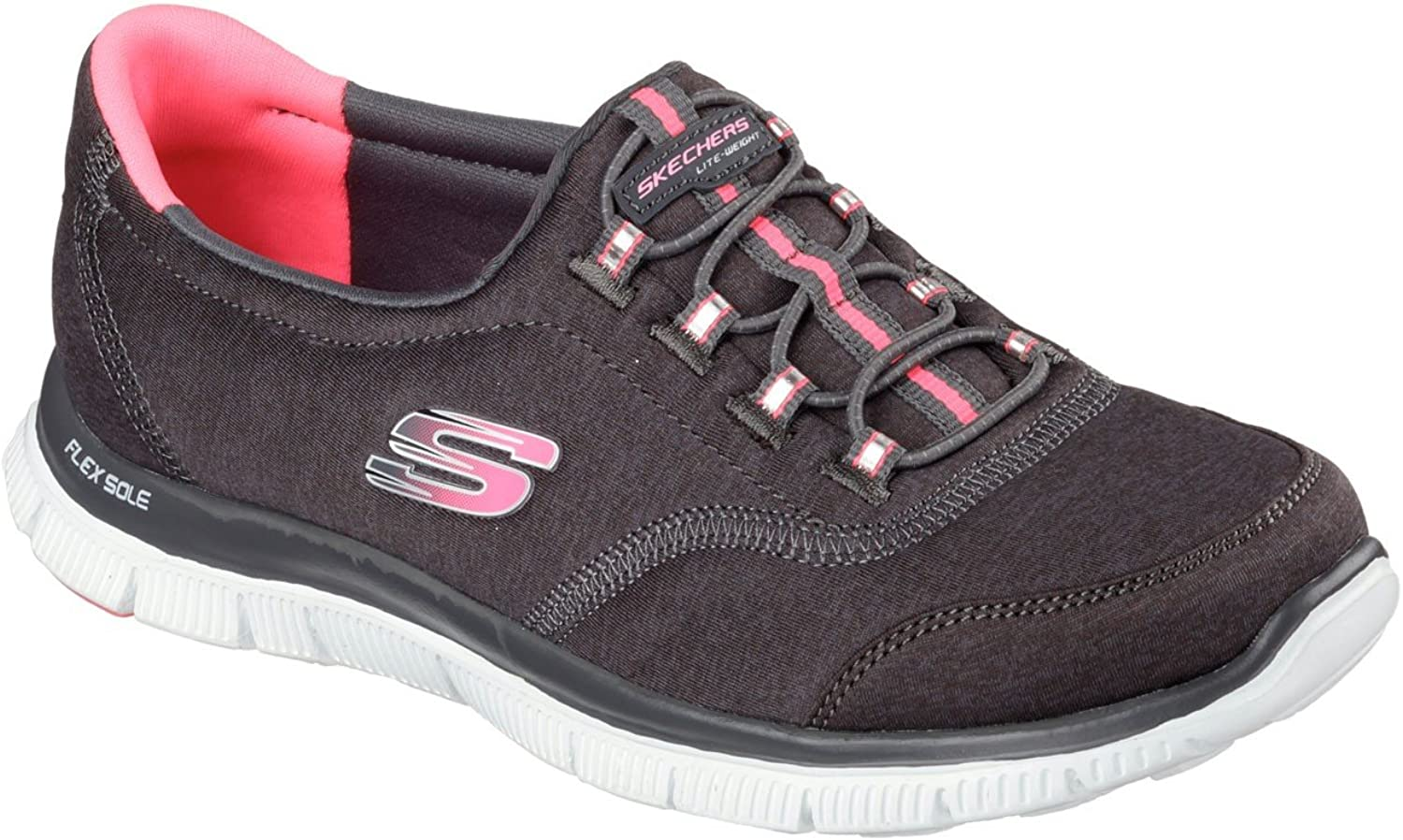 Skechers Flex Appeal Record Breaker Womens Sneakers Black