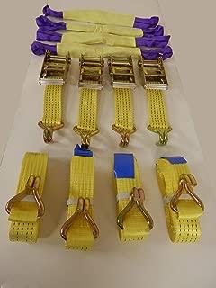 XuBa Equipo de recuperación Resistente Correas de trinquete 50 mm Ancho 4 m Longitud 5000 kg clasificación