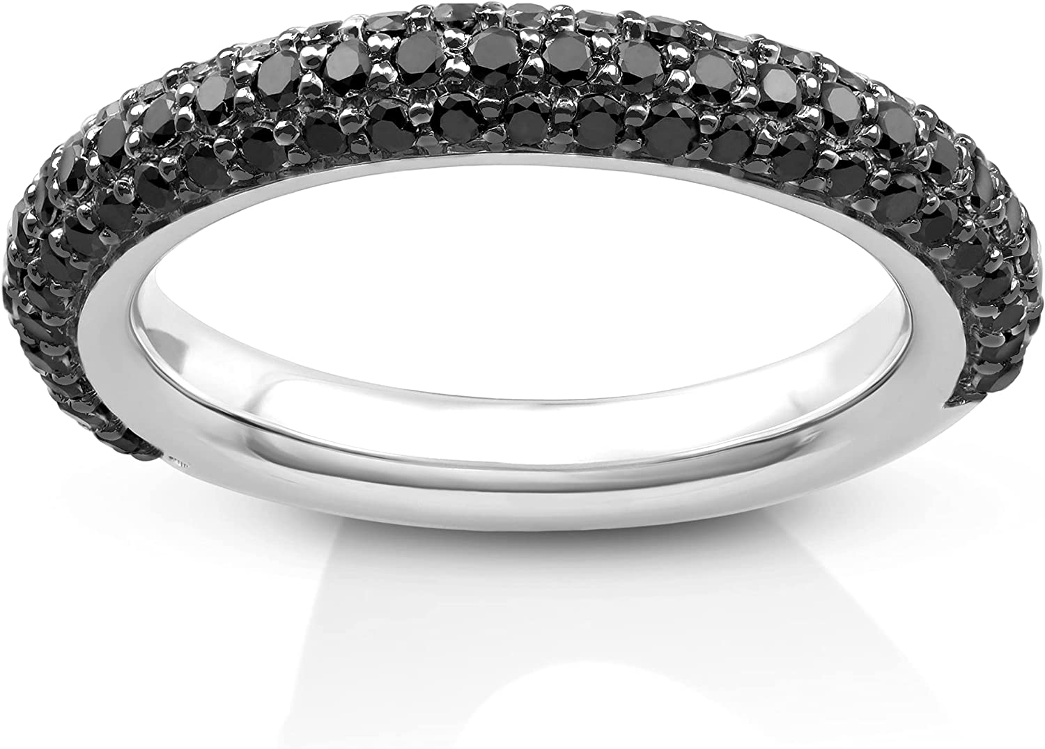 Sterling Silver Black DiamondBand Ring Color cttw Ranking TOP8 8 7 Limited time sale