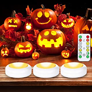 Litake Wireless Puck Lights,Display Under Cabinet Lighting with Timer,Stick On Anywhere Remote Battery LED Puck Lights for...