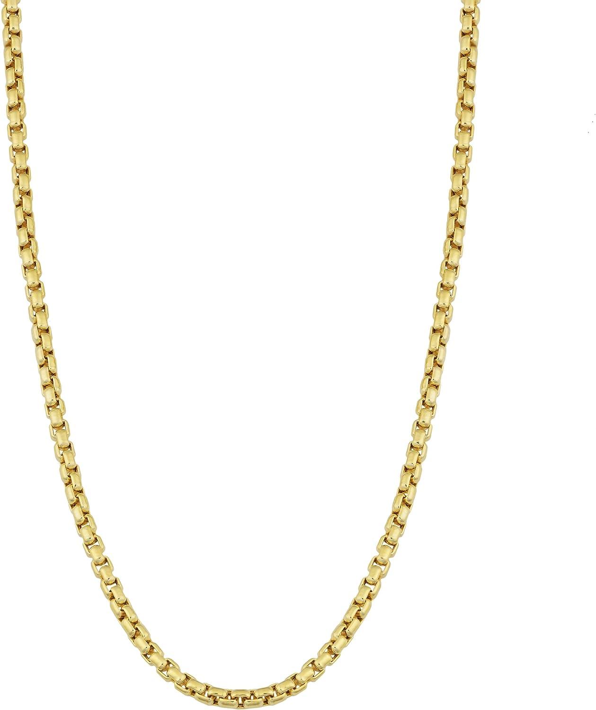 Kooljewelry 14k Yellow Gold 1.8 mm Round Box Chain Necklace