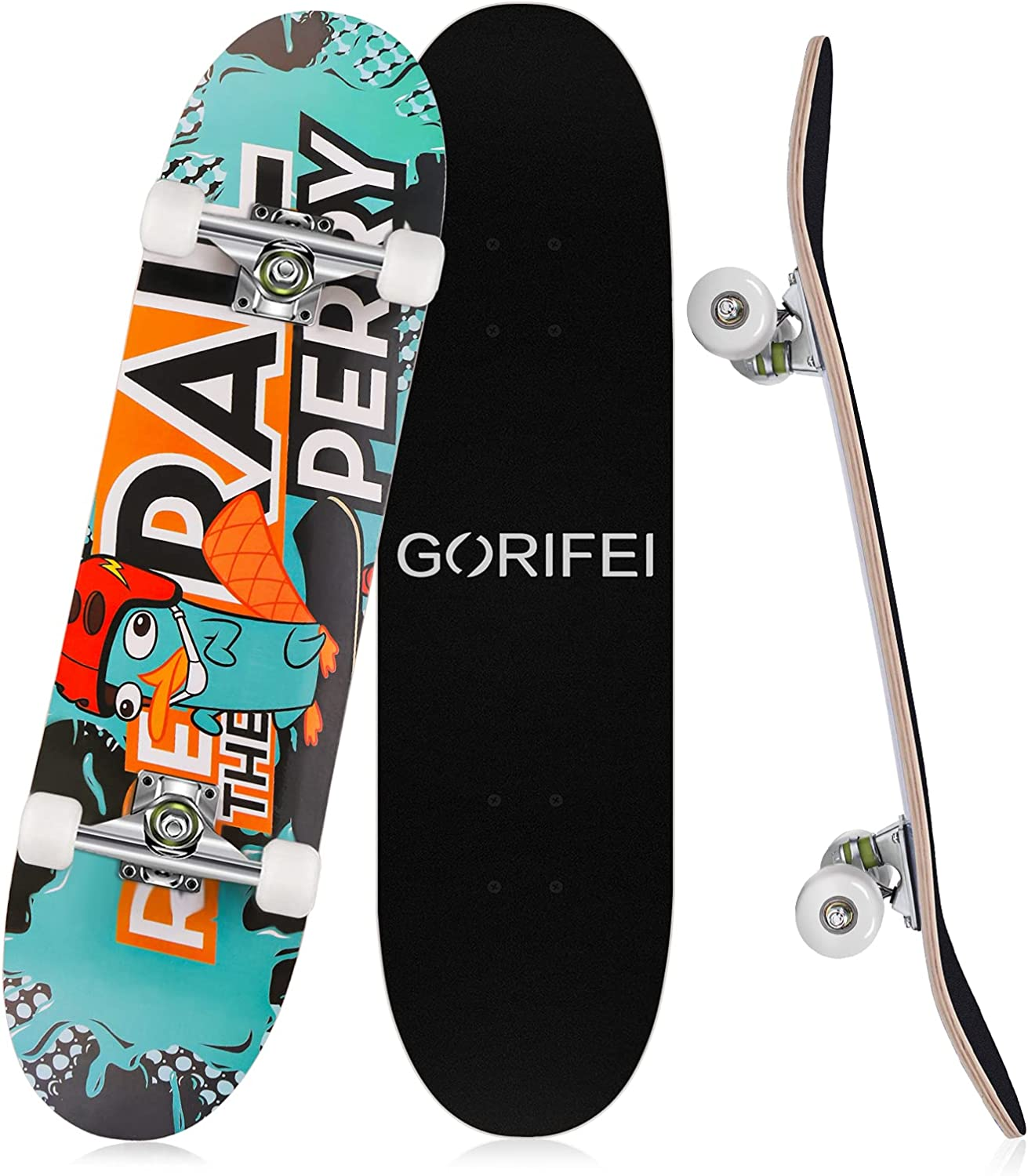 GORIFEI Standard Oklahoma City Mall Skateboard for Girls Inch Popular shop is the lowest price challenge Kids Boys 31 Adults