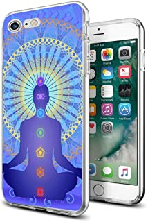 for iPhone 7 iPhone 8 Case Clear Design Chakras Yoga for iPhone Case 4.7