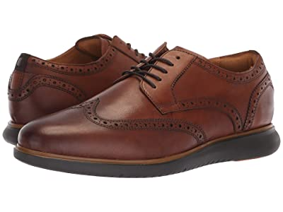 Florsheim Fuel Wing Tip Oxford (Cognac/Brown Sole 2) Men