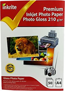 """Inkrite A4 210 gsm Premium """"PhotoPlus"""" Professional Photo Gloss Paper (Pack of 50 Sheets)"""