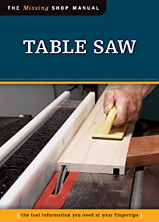 Table Saw (Missing Shop Manual) The Tool Information You Need at Your Fingertips (Fox Chapel Publishing)