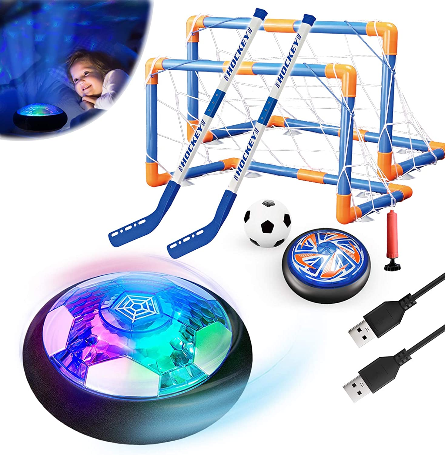 Binggle 3 Sales for sale in1 online shopping Hover Soccer Hockey Toys for Balls Kids Set
