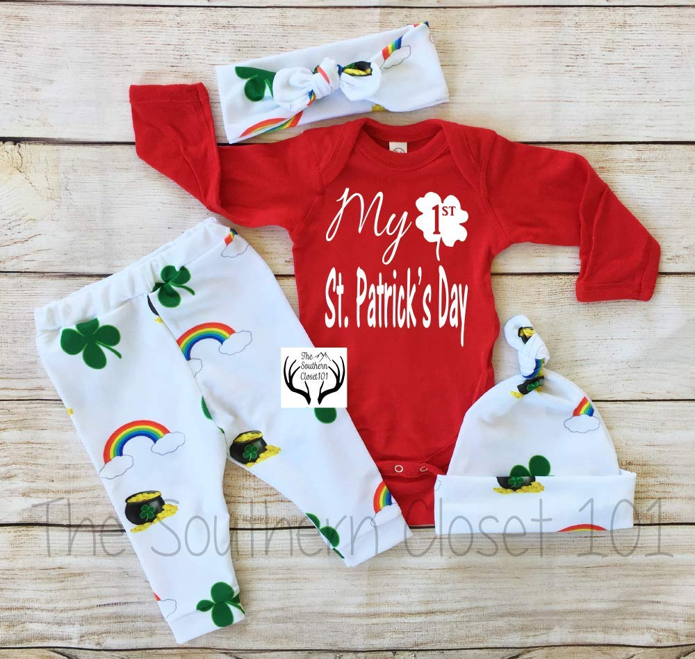 Unisex Boys or Girls First Day St. Patrick's Outfit Year-end annual Wholesale account