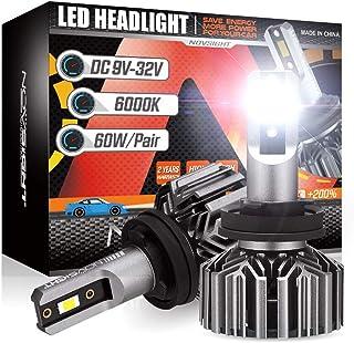 NOVSIGHT H11 H8 H9 LED Headlight Bulbs,12000 lumens 60W Per Pair Super Bright LED Headlights Conversion Kits, 6000K Cool W...