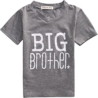 Gaono Toddler/Newborn Boys Shirt Big Brother T-Shirt & Little Brother Romper &Little Sister Tee Tops