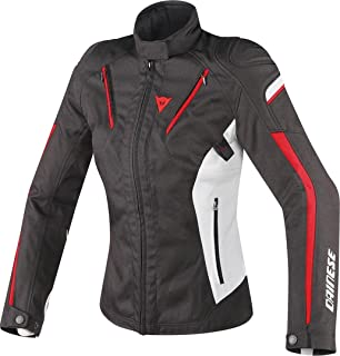 Dainese Women's Stream Line D-Dry Jacket (44) (Black/Glacier Grey/RED)