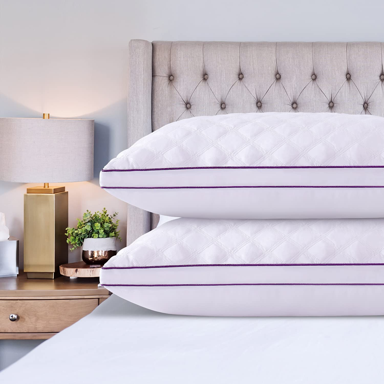 Washington Mall Amaredom Bed Pillows for Columbus Mall Sleeping Standard Pack Size 2