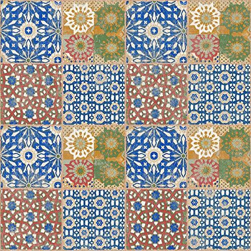 Vliestapete Fliesen-Tapete Tapete Fliesenoptik Tapete Küche 368951 36895-1 A.S. Création Il Decoro   Braun Grün Rot   Rolle (10,05 x 0,53 m) = 5,33 m²