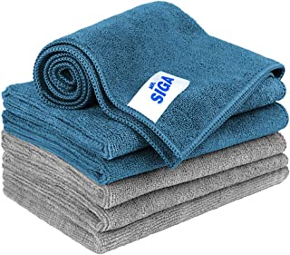 MR.SIGA Microfiber Cleaning Cloth, Pack of 6, Size: 13.8