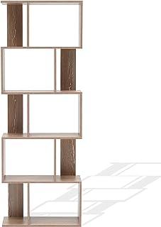Rebecca Mobili Estantería de 5 estantes libría de Madera marrón Muebles contemporáneos para Sala de Estar y Oficina- Me...