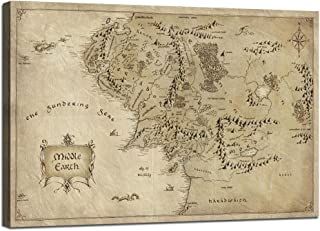 middle earth map canvas