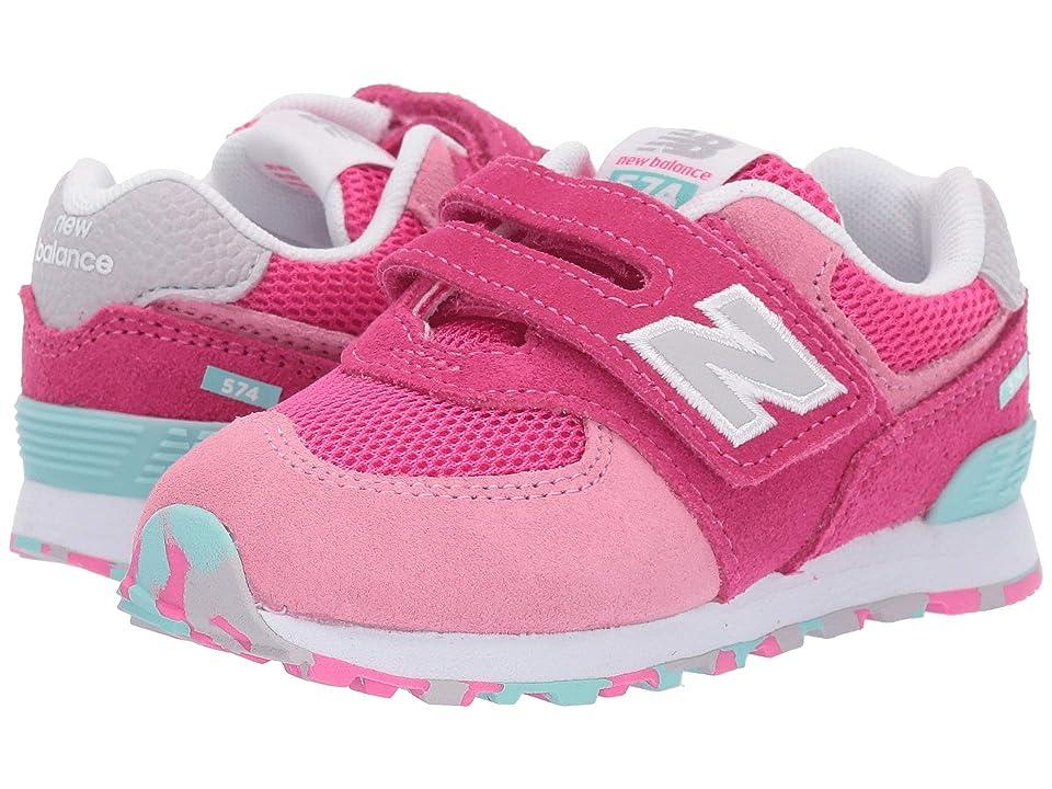 New Balance Kids IV574v1 (Infant/Toddler) (Peony/Peony Glo) Girls Shoes
