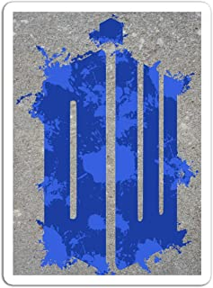 """BreathNenStore Sticker Television Show Dr Who Logo Tv Shows Series (3"""" x 4"""", 3 PCS/Pack)"""